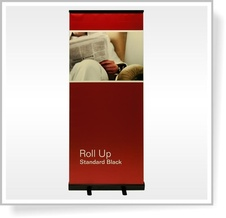 ROLL UP banner Standard BLACK 85 x 200