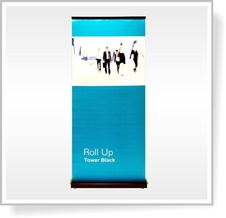 ROLL UP banner Tower Black 90 x 205